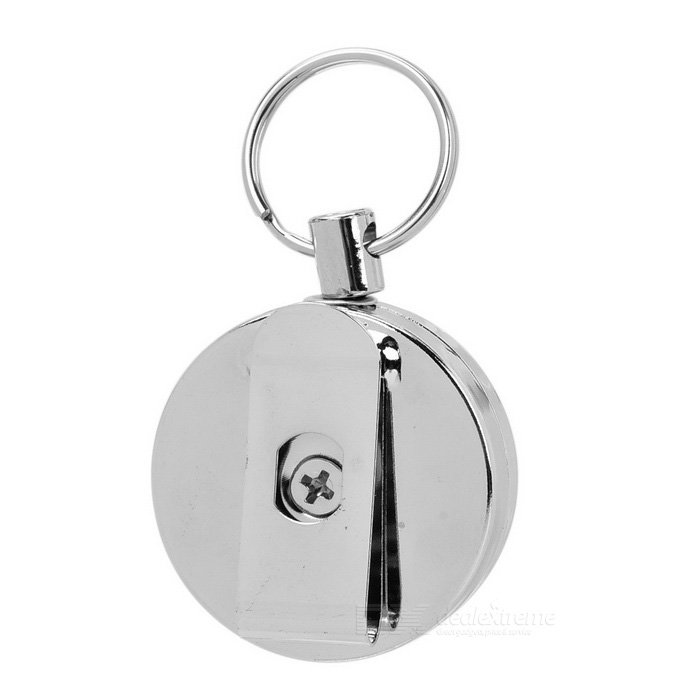 Retractable Steel Wire Rope Anti-Lost Keyring Keychain - Silver