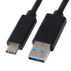 Type-C 3.1 Male to USB Male Data Cable for Nokia N1 - Black (1.2m)