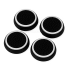 Gamepad Thumb Stick tapas tapas para PS4 y más - Negro + Blanco (4PCS)