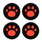 Cat's Claw Print Controller Thumbstick Cap Cover for PS4 - Red (4PCS)