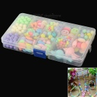 DIY Educational Acrylic Beads Bracelet Set for Kids - Blue + Pink (290 PCS)