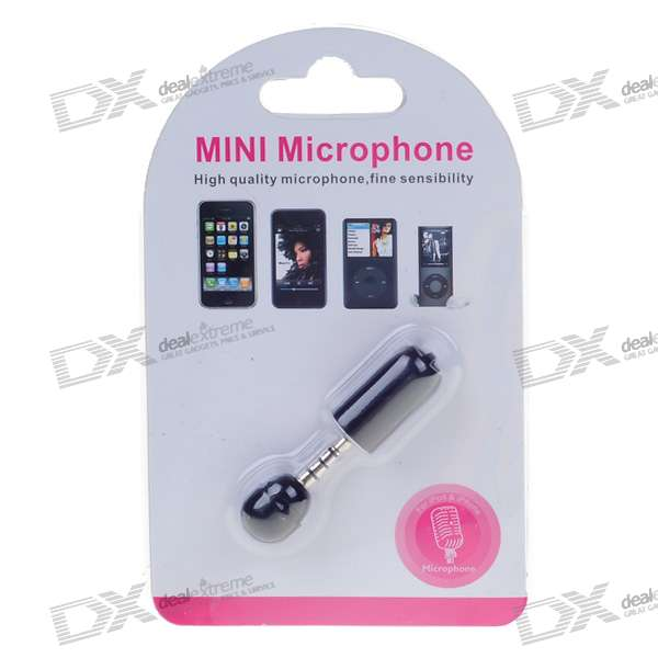 Mini Microphone for Iphone 3g/Ipod Nano 4G/Ipod Touch 2G/Ipod Classic 120 (3.5mm Jack/Black)