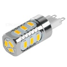 G9 5W LED Corn Light Warm White 300lm 3000K 15-5730 SMD - Silver + White (90~265V)