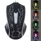 R.Horse FC-1621 USB 2.0 Wired Colorful Light LED Gaming Mouse - White + Black
