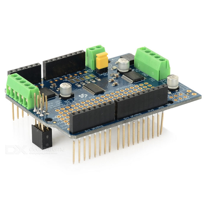 Motor Driver Shield V2 Expansion Board For Arduino Blue Free Shipping Dealextreme