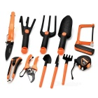 SDBL 15-in-1 Shovel / Shears / Saw / Rake / Fork Gardening Horticultural Tool Box - Black + Orange