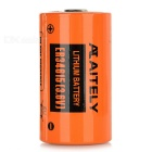 AITELY 3.6V Non-chargeable ER34615 Lithium Battery - Orange + Black