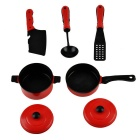 5-in-1 Simulation Kitchen Tool Toys Set - Red + Black