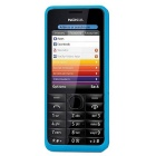 Genuine Nokia 301 Dual Sim 64MB 3G Bar Phone - Blue