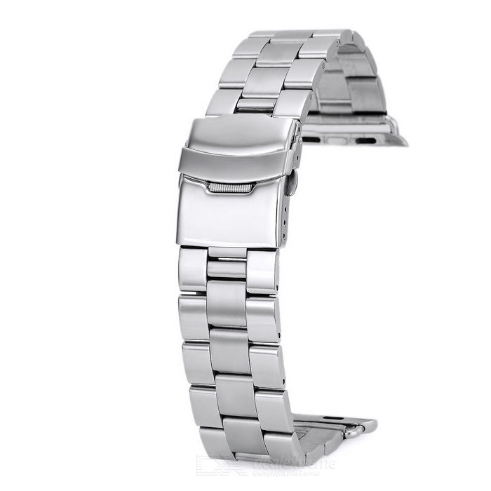 Correa de reloj de acero inoxidable de mini sonrisa para APPLE WATCH 42mm - plata