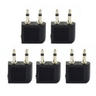 Jtron 3.5mm Airline Headphone Stereo Audio Converter Travel Jack Plug Splitters Adapters (5 PCS)