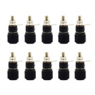 Jtron Middle Size Banana Jack Binding Inverter Socket Terminal Posts - Black (10 PCS)