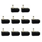 Jtron 3.5mm x 1.3mm DC Power Supply Plugs - Black (10 PCS)