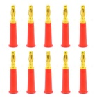 Jtron Audio Speaker Gold-plated 4mm Banana Plug Connectors - Red (10 PCS)
