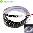 SENCART 7.5W Car LED Strip Light White 90-3528 SMD 6000K 450lm - Black (DC12V / 150cm)