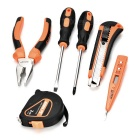 SDBL 6-in-1 Household Screwdrivers Plier Electroprobe Repair Maintenance Tool Kit - Orange + Black