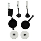5-in-1 Simulation Kitchen Tool Toys Set  - White + Black