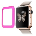 0.2mm Premium Tempered Glass Screen Protector w/ Metal Frame for APPLE WATCH 42mm - Deep Pink