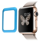 0.2mm Premium Tempered Glass Screen Protector w/ Metal Frame for APPLE WATCH 42mm - Blue