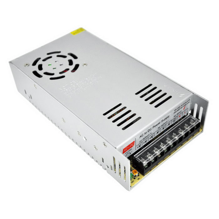 AC 110V / 220V to DC 12V 25A 300W Switching Power Supply - SilverSwitching Power Supply<br>Power300WForm  ColorSilver Grey + Black + Multi-ColoredMaterialAluminumQuantity1 DX.PCM.Model.AttributeModel.UnitRated Current25 DX.PCM.Model.AttributeModel.UnitRate Voltage12VWorking Temperature-40~+65 DX.PCM.Model.AttributeModel.UnitWorking Humidity20%~90% RH non-condensingCertificationCEOther Features1. Input voltage range(V): 110 / 220V±15%;<br>2. Frequency(Hz): 47~63Hz;<br>3. Voltage Regulation: ±10%Packing List1 x Switching power supply<br>