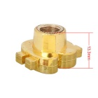 MZ Universal 8mm Dollars Car Plastic Tire Valve Caps - Golden (4PCS)