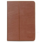 V919 Tree Bark Pattern Protective PU Case w/ Stand for V919 - Brown