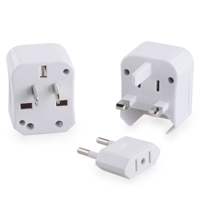 Portable Universal 2.5A 250V US / UK / AU / EU Travel Power Adapter