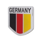 MZ Universal Car Aluminum Alloy Front Grille Germany Flag Badge Decoration - Black + Red