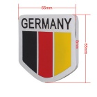 MZ Universal Car Aluminum Alloy Front Grille Germany Flag Badge
