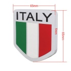 MZ Universal Car Aluminum Alloy Front Grille Italy Flag Badge