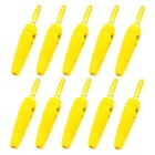 Jtron Gold-Plated Banana Plug Wire Connector w/ 4mm Hole - Yellow (10PCS)