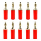 Jtron 4mm Adapter Speaker Wire Audio Cable Banana Plug Connectors - Red (10 PCS)