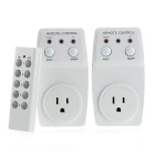 2 Pack Wireless Remote Control Power Outlet Plug Light Switch Socket One Remote - White (US Plug)