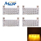 MZ Wired 16W LED-Auto-Nebel-Lampen / Warning Light Yellow 597nm 2640lm (12V / 4 PCS)