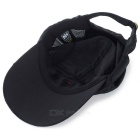 Outdoor Sports Sun-Blocking Breathable Peaked Baseball Hat - Black
