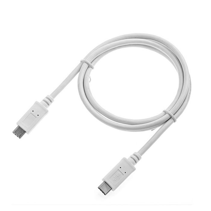 CY1.0M Reversible Design USB Type C Male to Male Data Cable - White