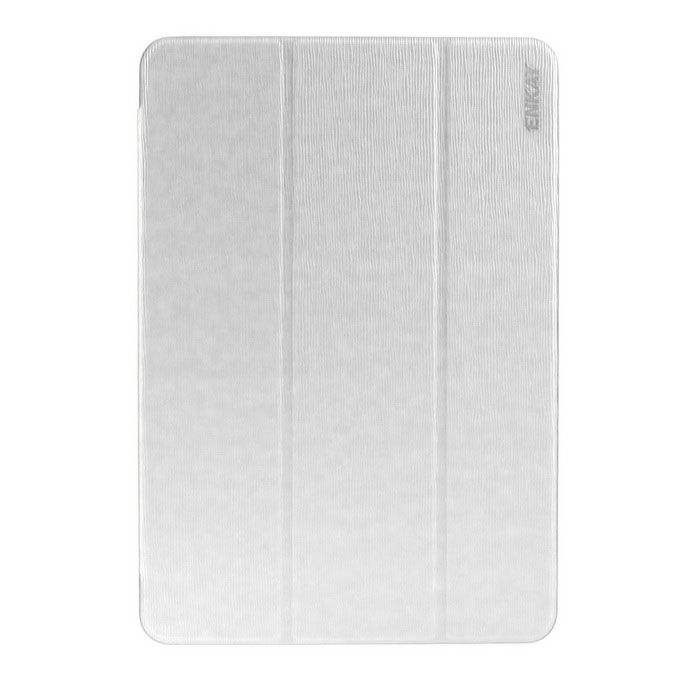 ENKAY 3-Folds Protective PU Case w/ Stand for Samsung T550 - White