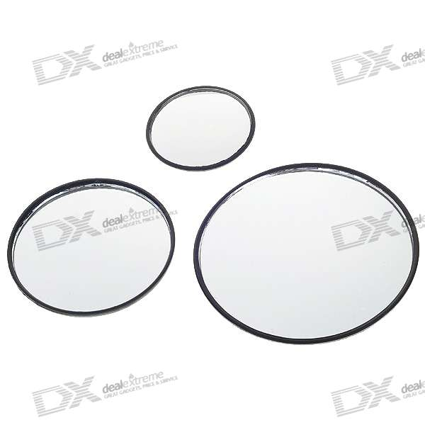 Convex Wide Angle Adjustable Car Blind Spot Mirrors (3-Pack)