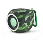 Mini Outdoor IPX7-Waterproof / Dustproof Bluetooth V4.0 + EDR Speaker - Camouflage Green