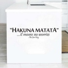 Fashion Decal Removable Hakuna Matata Wall Sticker Poster