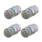 MZ 8mm Car Tire Pressure Monitoring Valve Caps - Silver (4PCS)