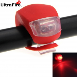 UltraFire 2-LED 20lm 3-Mode Red Light Bike Tail Safety Warning Lamp - Red (2 x CR2032)