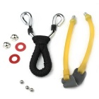 Outdoor Hunting Stainless Steel Slingshot - Black + Yellow