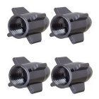 MZ Universal 8mm Rocket Aluminium Alloy Tire Valve Caps - Black (4PCS)