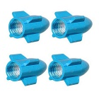 MZ Universal 8mm Rocket Aluminium Alloy Tire Valve Caps - Blue (4PCS)