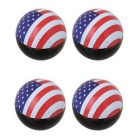 MZ Universal 8mm American Flag Car Tire Valve Caps - Red + Blue (4PCS)