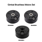 3 * Brushless Gimbal Motors para Mini Câmera DSLR 5N / 6N / 7N - Preto