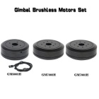 Brushless Gimbal Motors Set para cámara DSLR 5D2 / 5D3 - Negro