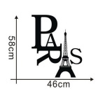 2015XH-zy-26 Fashion Paris Eiffel Tower Removable PVC Wall Sticker Home Kids Room Decor Art Decal