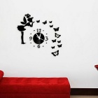 Butterfly & Fairy Modern Mirrors Wall Stickers DIY Acrylic Wall Clock Decals for Home Decoration